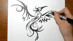 how to draw a tribal phoenix youtube