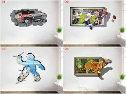Cartoon Wall Painting In Bedroom Dhl Mix 4 Styles Cartoon 3d Paper Decor Wall Stickers For Kids