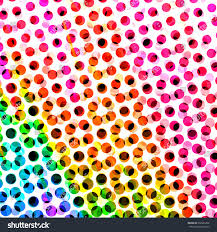 halftone dots spotted circle backdrop colorful stock illustration