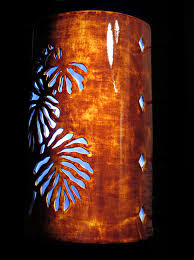 Ceramic Wall Sconce Wall Sconce Tropical Leaf Palm Tree Outdoor Ceramic Wall
