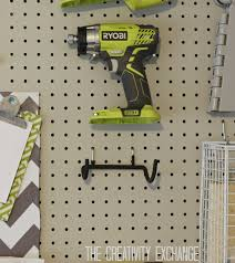 organizing the garage with diy pegboard storage wall tool holder