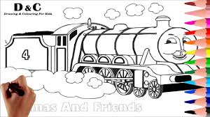 coloring pages thomas u0026 friends draw u0026 color learning