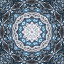 themed artwork winter themed snowflake mandala digital artwork for creative