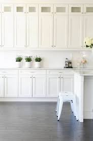 kitchen dark floors white cabinets white kitchen paint colors