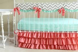Navy And Coral Crib Bedding Solid Light Blue Crib Bedding Linen Chevron Baby Boy Elephant