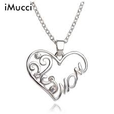 s day necklaces imucci fashion simple heart shaped imitation necklace
