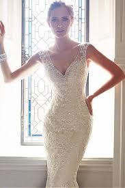 mermaid trumpet wedding dress 2016 v neck mermaid trumpet wedding dresses with applique chapel