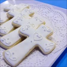 communion cookies cross shaped sugar cookies gray barn baking