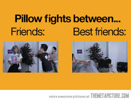 Pillow Fight Meme - the difference between friends and best friends smosh