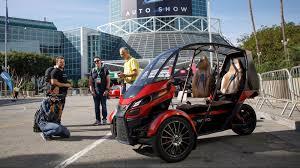 la auto show 2017 arcimoto three wheeler delivers electric