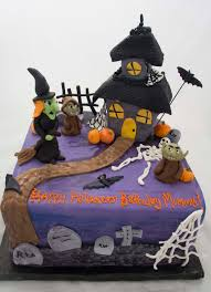 Halloween House Decorating Haunted House Cake Ideas