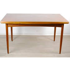 extendable danish teak dining table by dyrlund