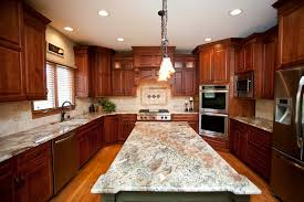 Natural Cherry Shaker Kitchen Cabinets Beautiful Woodridge Kitchen Remodel Cherry Cabinets In Shaker