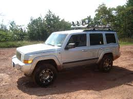 White Jeep Commander Lifted Wallpaper 1024x768 13814