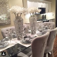 dinner table centerpiece ideas best 25 glass dining table ideas on glass dining room