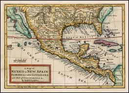 me a map of mexico a map of mexico or spain florida now called louisiana and