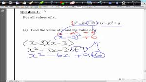 calculator q27 a star completing the square min max sketch edexcel last minute revision