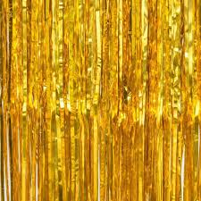 gold backdrop x 118 foil fringe curtain backdrop gold
