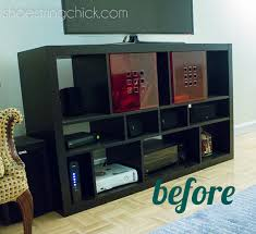 Upcycle Laminate Furniture - paint ikea furniture updated tv stand shoestring