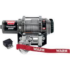 warn vantage 2000 series 12 volt dc powered electric atv winch