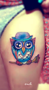 little color owl tattoo on wrist in 2017 real photo pictures