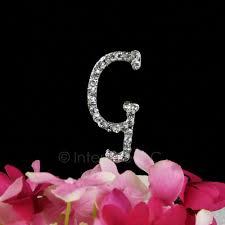 g cake topper rhinestone g cake topper 2 inch monogram letter