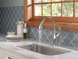 High Rise Kitchen Faucet by Delta Addison Single Handle Pull Down Standard Kitchen Faucet