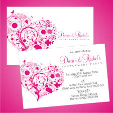 Engagement Invitation Cards Designs Cute Pink Custom Engagement Party Invitation Card Design With Pink