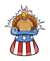 turkey bird in uncle sam hat royalty free stock image storyblocks
