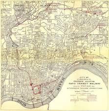 Map Of Cincinnati Historical Map Proposed Cincinnati Rapid Transit Transit Maps