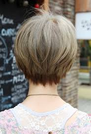 front and back pictures of short hairstyles for gray hair back view of short haircuts glamour women hairstyle