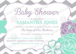 chevron flowers baby shower invitations kustom kreations
