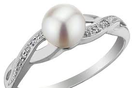 pearl and diamond engagement rings and diamond infinity engagement ring
