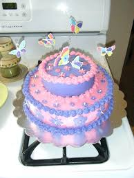 Purple Butterfly Cake Decorations Best Ideas Pink And 2 Tier It