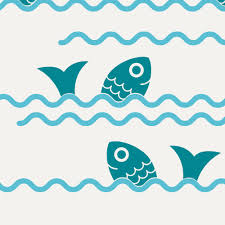 jumping fish ocean waves wall decals graphic spaces jumping fish ocean waves wall decals