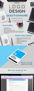 creative design brief questions logo design questionnaire on behance design process pinterest