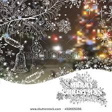 Decoration With Christmas Cards by Set Christmas New Year Greeting Cards Stock Vector 336639083