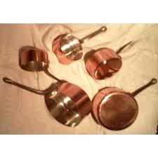 batterie de cuisine en cuivre a vendre batterie de cuisine en cuivre lot casseroles cuivre rossetto etat