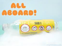 Bathtub Submarine Toy Plastic Bottle Submarine Mr Printables