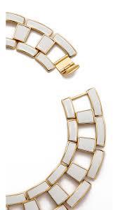 chain link collar necklace images Lyst rachel zoe eloise leather link collar necklace white in white jpeg