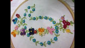 hand embroidery designs design for dresses stitch and flower