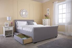 Grey Sleigh Bed Idaho Grey Sleigh Bed Frame With Drawers Dublin Beds