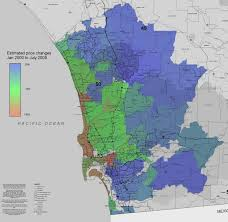 Illinois Zip Codes Map by San Diego Home Price Index