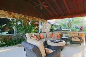 tropical outdoor kitchen in temecula patio furniture stone siding
