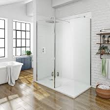 1400 Shower Door Mode Luxury 8mm Walk In Shower Enclosure Pack With Tray