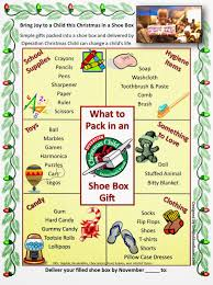 operation christmas child what to pack in a shoe box poster occ