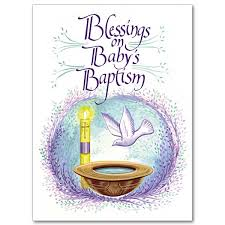blessings on baby s baptism baptism card child