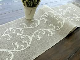 embroidered table runner wedding table linens romantic