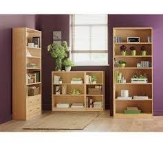 Mahogany Effect Bookcase Buy Home Maine 5 Shelf Wide Extra Deep Bookcase Beech Effect At