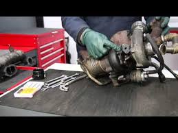 mercedes om617 removing a turbocharger from a mercedes om617 turbo diesel engine